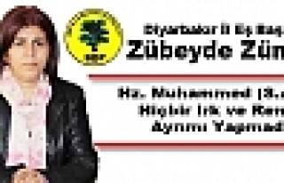 BDP'li Zümrüt: Hz. Muhammed Hiçbir Irk ve Renk...