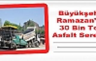 Büyükşehir Ramazan'da 30 Bin Ton Asfalt Serecek