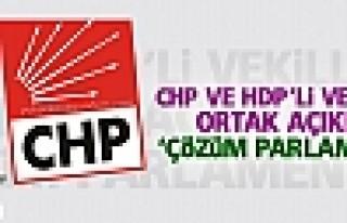 CHP ve HDP'li vekillerden ortak açıklama: 'Çözüm...