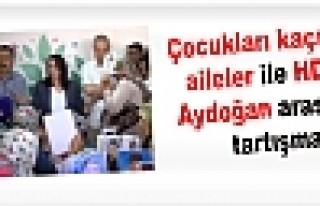 Çocukları kaçırılan aileler ile HDP'li Aydoğan...