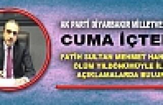 CUMA İÇTEN, FATİH SULTAN MEHMET HAN'IN 533. ÖLÜM...