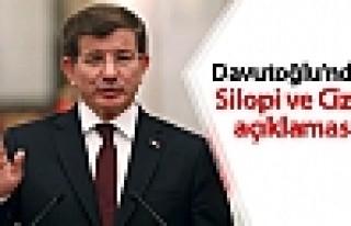 Davutoğlu: Cizre ve Silopi'de güvenlik ortamı tesis...