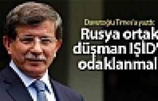 Davutoğlu Times'a yazdı: Rusya ortak düşman IŞİD'e...