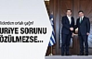 Davutoğlu ve Çipras'tan çağrı: Suriye sorunu...