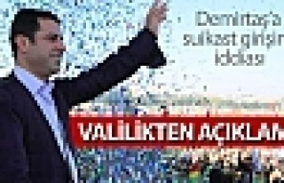 Demirtaş'a suikast girişimi iddiası: Valilikten...