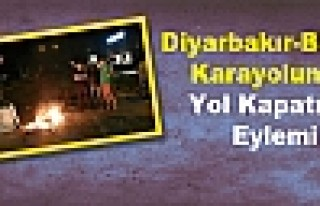 Diyarbakır-Bingöl Karayolunda Yol Kapatma Eylemi