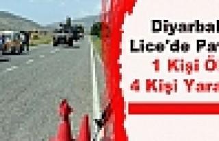 Diyarbakır Lice'de Patlama 1 Kişi Öldü 4 Kişi...