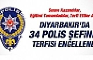 DİYARBAKIR'DA 34 POLİS ŞEFİNE TERFİ ENGELİ