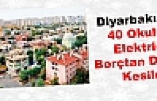 Diyarbakır'da 40 Okulun Elektriği Borçtan Dolayı...