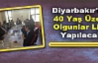 Diyarbakır'da 40 Yaş Üzeri Olgunlar Ligi Yapılacak