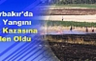 Diyarbakır'da Anız Yangını Trafik Kazasına Neden...