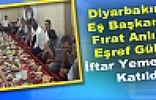 Diyarbakır'da Fırat Anlı ve Eşref Güler, İftar...