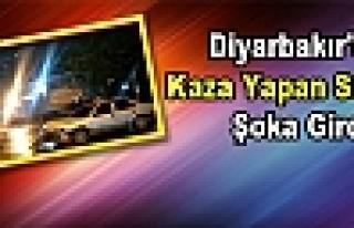 Diyarbakır'da Kaza Yapan Sürücü Şoka Girdi