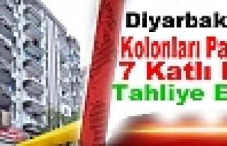 Diyarbakır'da Kolonları Patlayan 7 Katlı Bina Tahliye...