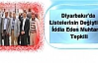 Diyarbakır'da Listelerinin Değiştiğini İddia...