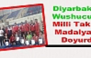 Diyarbakırlı Wushucular Milli Takımı Madalyaya...