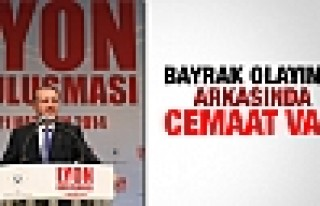 Erdoğan: Bayrak indirmenin arkasında Cemaat var