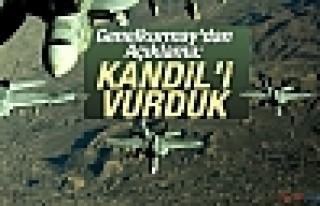 Genelkurmay'dan Açıklama: Kandil'i Vurduk