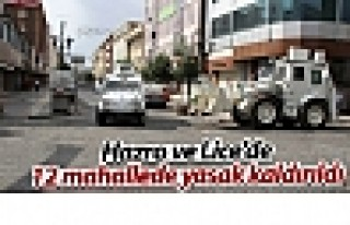 Hazro ve Lice'de 12 mahallede sokağa çıkma yasağı...
