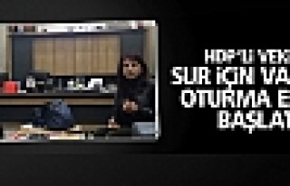 HDP'li vekiller Sur için valilikte oturma eylemi...