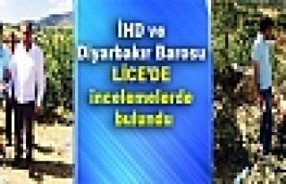 İHD ve Diyarbakır Barosu Lice'de incelemelerde...