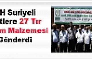 İhh Suriyeli Kürtlere 27 Tır Yardım Malzemesi...