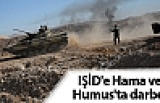 IŞİD'e Hama ve Humus'ta darbe