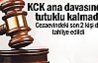 KCK ana davasında tutuklu kalmadı
