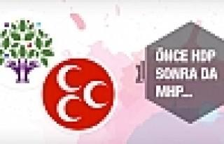 Önce HDP sonra da MHP çözülecek!