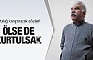 PKK'dan Öcalan için şok sözler: Ölse de kurtulsak