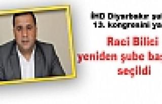 Raci Bilici yeniden şube başkanı seçildi.