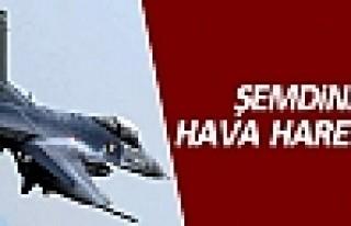Şemdinli'de uçak hareketliliği