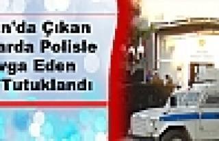 Silvan'da Çıkan Olaylarda Polisle Kavga Eden Kişi...