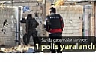 Sur'da çatışmalar sürüyor: 1 polis yaralandı