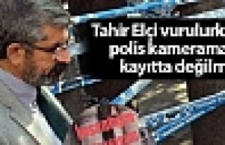 Tahir Elçi vurulurken polis kameramanı kayıtta...