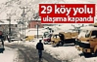 Tunceli'de 29 köy yolu ulaşıma kapandı