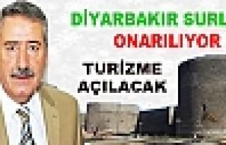Turizme Kazandırılacak Diyarbakır Surları'nda...