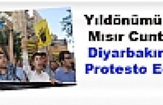 Yıldönümünde Mısır Cuntası Diyarbakır'da Protesto...
