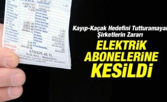 Kayıp-Kaçak Elektriğin Faturası Abonelere Kesildi
