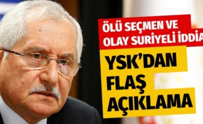 YSK Başkanı Sadi Güven konuştu! Olay ölü seçmen ve Suriyeliler iddiası