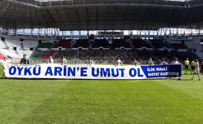 """Amedspor'a büyük alkış: """"Öykü Arin'e Umut Ol"""""""