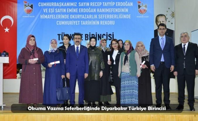 Okuma Yazma Seferberliğinde Diyarbakır Türkiye Birincisi