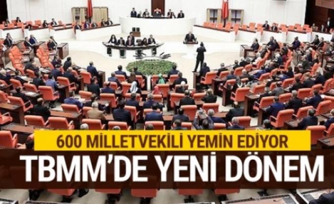 Milletvekilleri yemin töreni yeni dönemin ilk parlamentosu